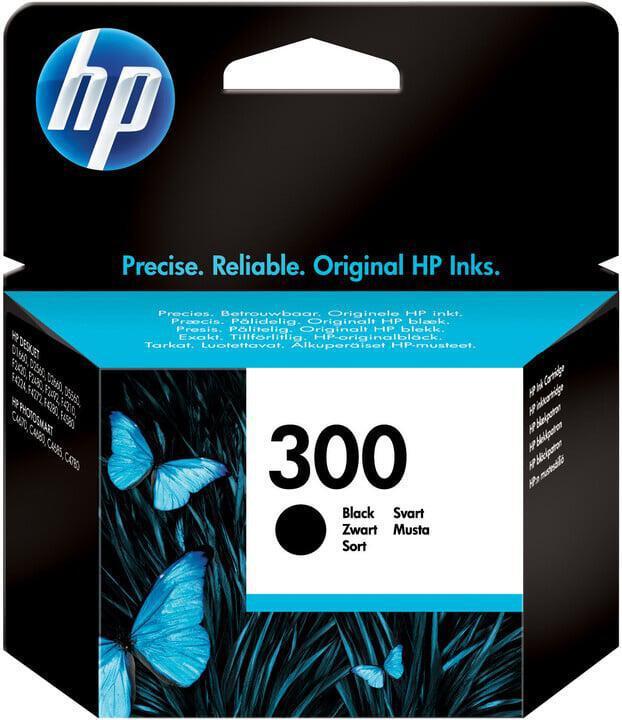 Inkoustová náplň HP No. 300, 200 stran originální - černá