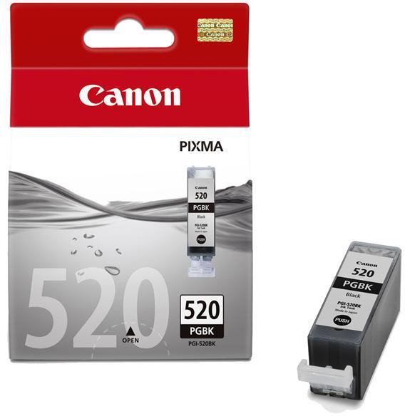 Inkoustová náplň Canon PGI-520Bk, 320 stran originální - černá