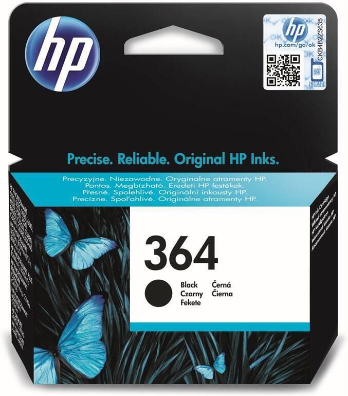 Inkoustová náplň HP No. 364, 250 stran, originální - černá