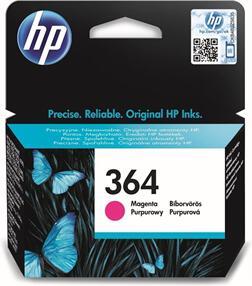 Inkoustová náplň HP No. 364, 300 stran originální - červená
