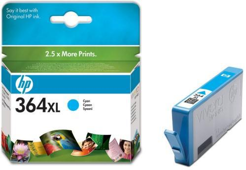 Inkoustová náplň HP No. 364XL, 750 stran originální - modrá