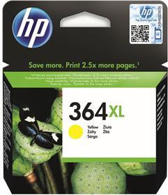 Inkoustová náplň HP No. 364XL, 750 stran originální - žlutá