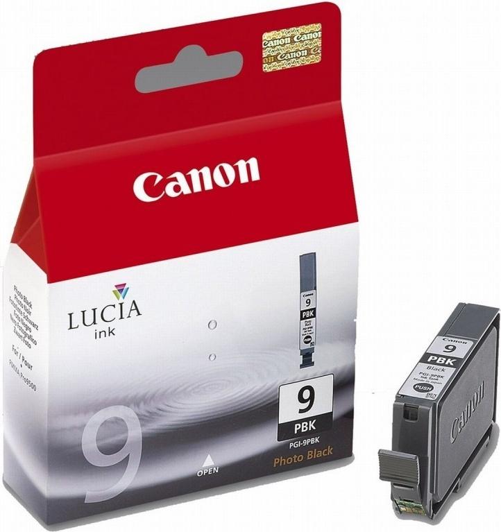 Inkoustová náplň Canon PGI-9PBk, 650 stran originální - černá