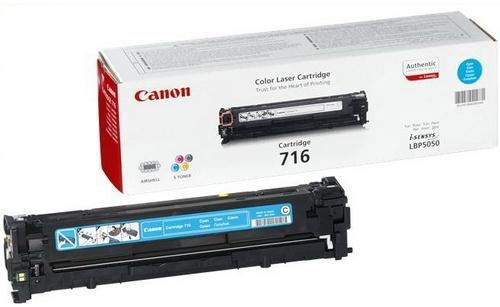 Toner Canon CRG-716C, 1500 stran originální - modrý