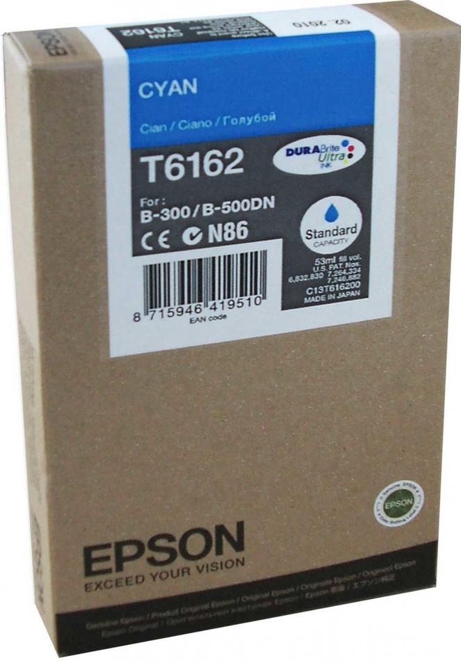 Inkoustová náplň Epson T616200, 53ml originální - modrá