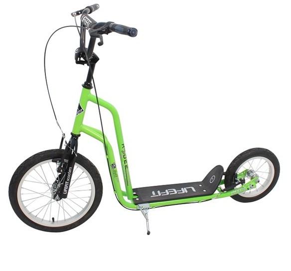 """Koloběžka Lifefit Rider 16""""/12"""" - zelená/černá"""