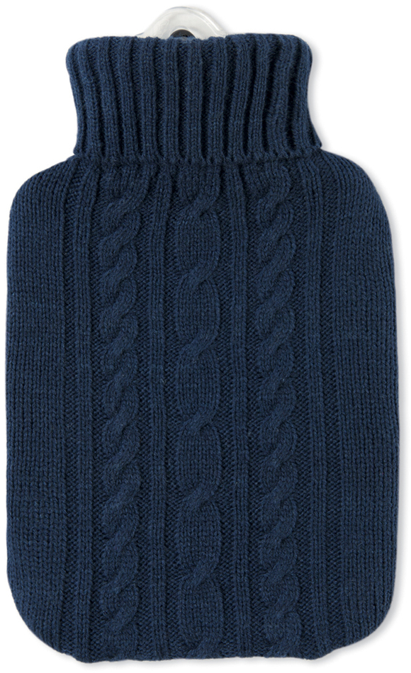 Termofor Hugo Frosch Classic s modrým pleteným obalem