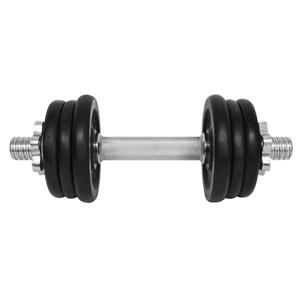 Činka LIFEFIT nakládací jednoruční 9 kg, 6x kotouč - lakované kotouče - kov/černá