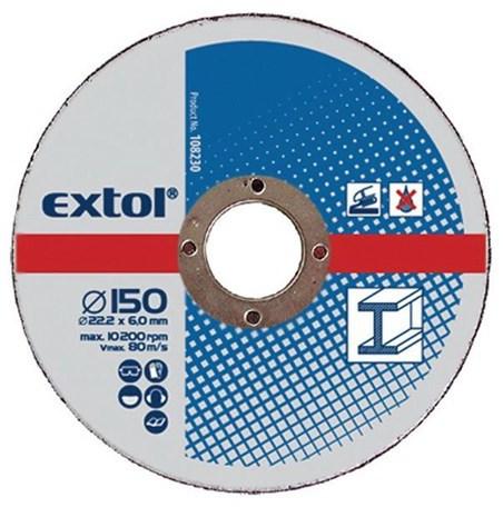 Brusný kotouč Extol Craft, na kov, 5ks, 150x6,0x22,2mm