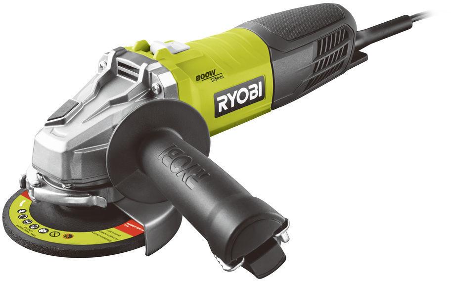 Ryobi RAG800-125S, úhlová bruska 125 mm