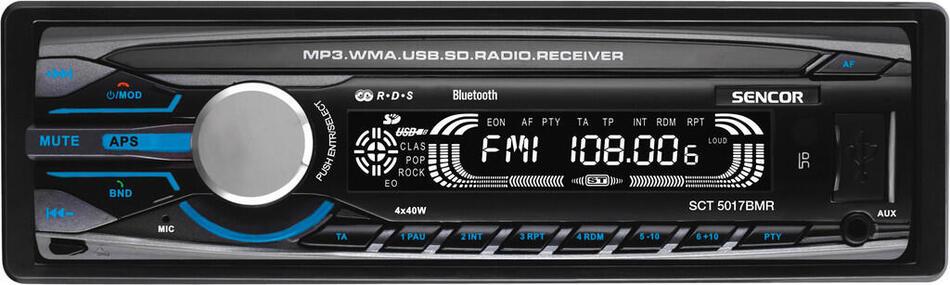 Autorádio s USB/SD Sencor SCT 5017BMR BT