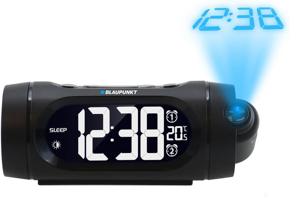 Rádiobudík BLAUPUNKT CRP9BK, FM PLL, teploměr, projekční, černý