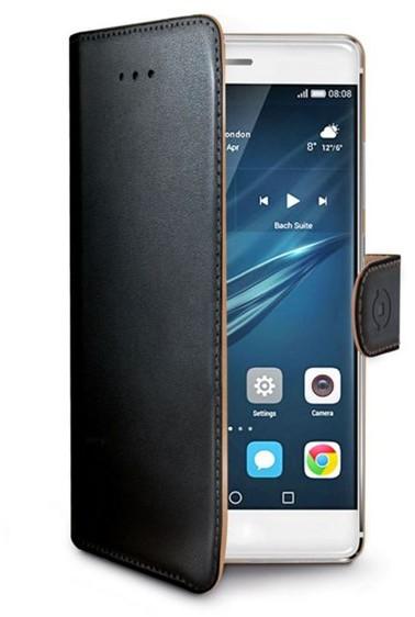Pouzdro na mobil flipové Celly WALLY pro Huawei P9 Plus - černé