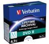 Disk Verbatim DVD-R M-Disc 4,7GB, 4x, printable, jewel box, 5ks