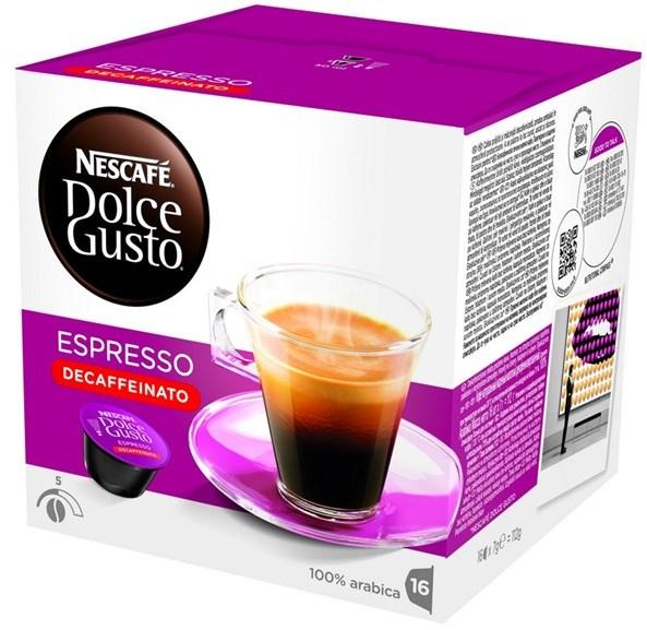 Kapsle NESCAFÉ Espresso bez kofeinu 16 ks k Dolce Gusto
