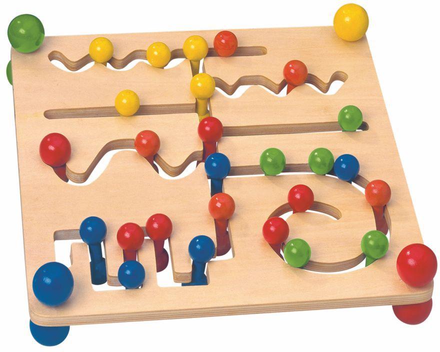 Motorický labyrint s kuličkami WOODY