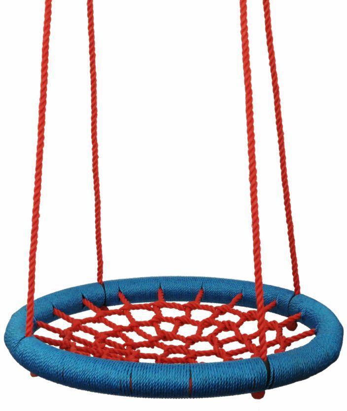 Houpací kruh (průměr 100cm) - červeno-modrý WOODY