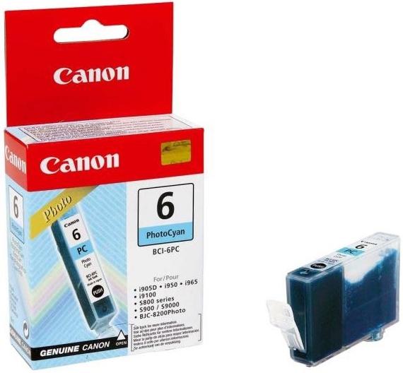 Inkoustová náplň Canon BCI-6PC, 210 stran originální - modrá