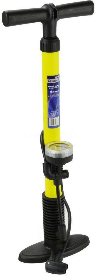 Ruční pumpa s manometrem, 35x500mm, plastové tělo GEKO