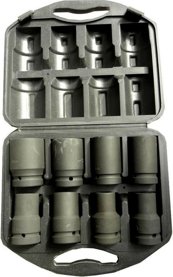 """Sada nástrčných hlavic 1"""", 8ks, 19-41mm GEKO"""