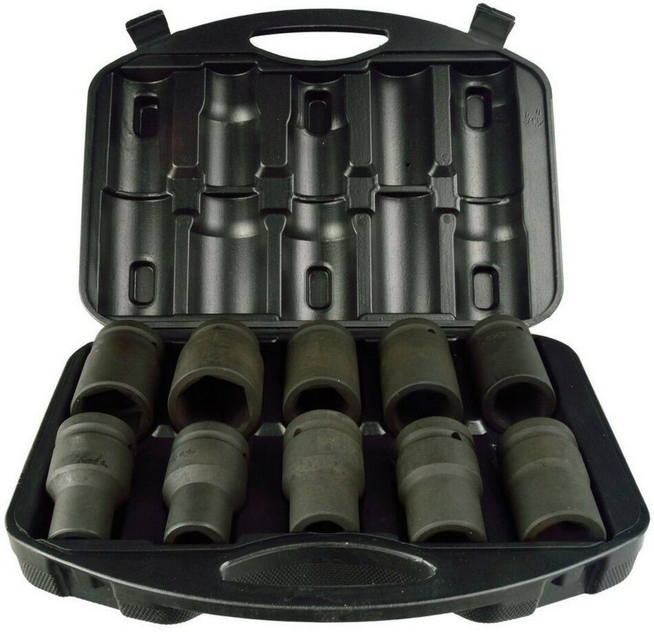"""Sada nástrčných hlavic 1"""", 10ks, 17-41mm GEKO"""