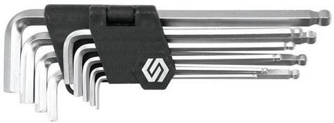L-klíče imbus, sada 9ks, 2,5-3-4-5-5,5-6-7-8-10mm, s kuličkou TOYA