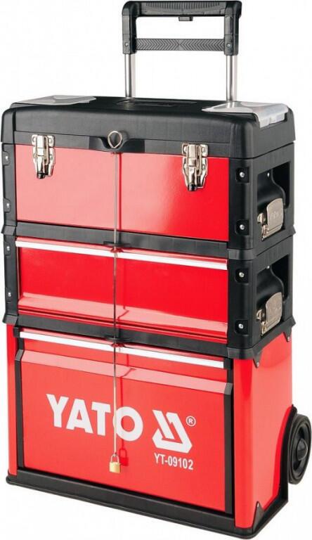 Vozík na nářadí, 3 sekce, 1 zásuvka YATO
