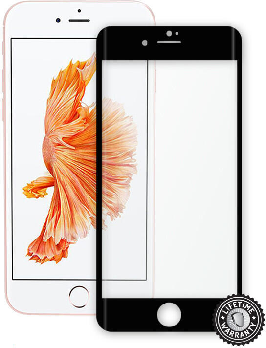 Screenshield™ Apple iPhone 7 Tempered Glass protection display (full COVER BLACK metalic frame) (APP-TGFCBMFIPH7-D)