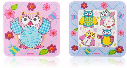 BANQUET Sada plastového prostírání OWLS 10 x 10 cm, 6 ks