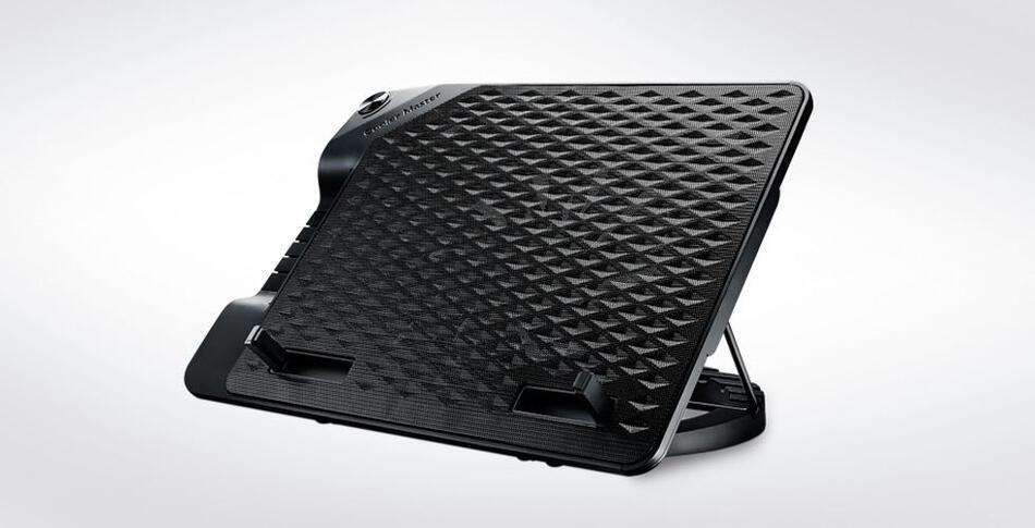 Cooler Master ERGOSTAND III, nastavitelná chladící podložka pod notebook, USB, 230 mm, černá (R9-NBS-E32K-GP)