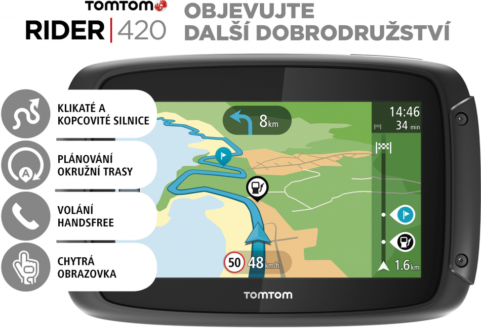 tomtom rider 420 eu pro motocykly lifetime mapy. Black Bedroom Furniture Sets. Home Design Ideas