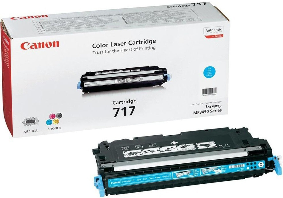 Toner Canon CRG-717C, 4000 stran originální - modrý