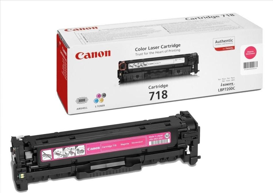 Toner Canon CRG-718M, 2900 stran originální - červený