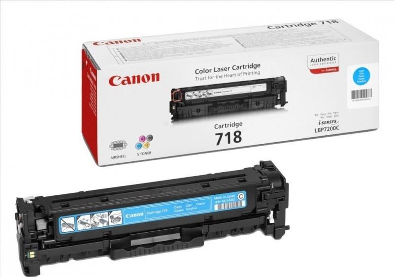 Toner Canon CRG-718C, 2900 stran originální - modrý