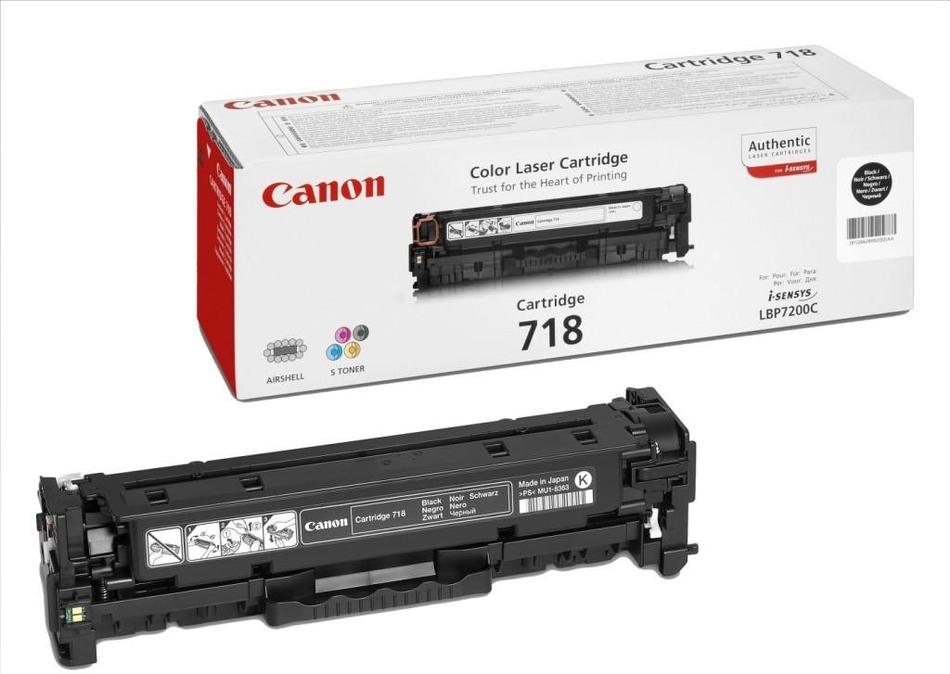 Toner Canon CRG-718Bk, 3400 stran originální - černý