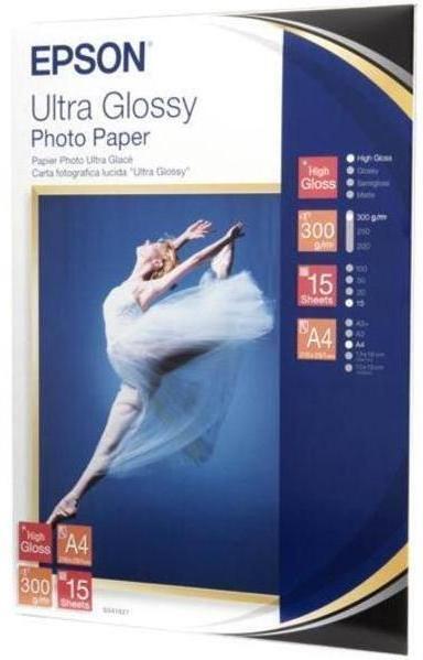Papíry do tiskárny Epson Ultra Glossy Photo A4, 300g, 15 listů
