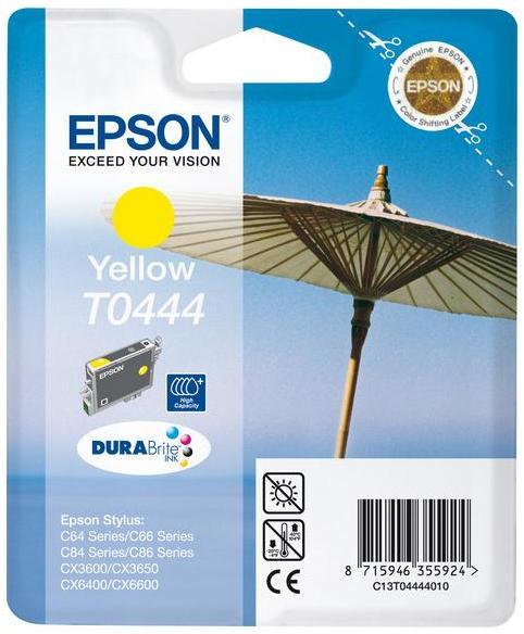 Inkoustová náplň Epson T0444, 13ml originální - žlutá