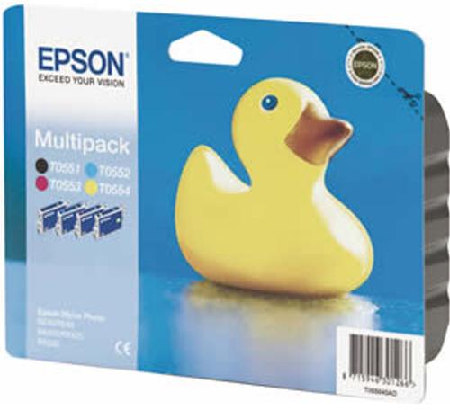 Inkoustová náplň Epson T0556, 8ml originální - černá/červená/žlutá