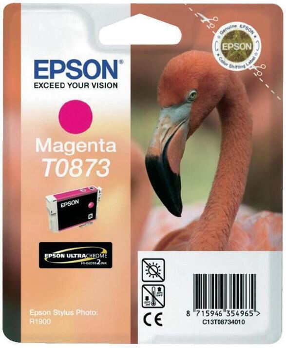 Inkoustová náplň Epson T0873, 11ml originální - červená