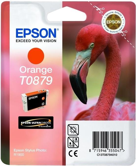 Inkoustová náplň Epson T0879, 11ml originální - oranžová