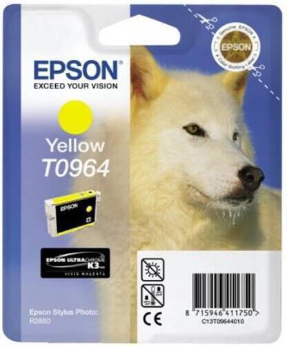 Inkoustová náplň Epson T0964, 13ml originální - žlutá