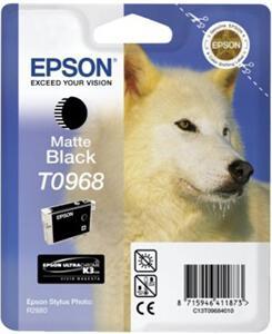Inkoustová náplň Epson T0968, 13ml originální - černá