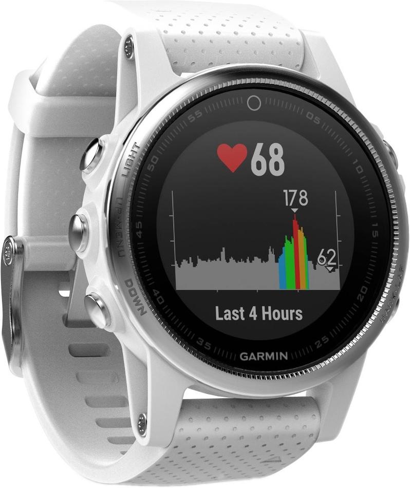 3a483c1e0 Garmin GPS sportovní hodinky fenix5S stříbrné, bílý řemínek (010-01685-00)  ...