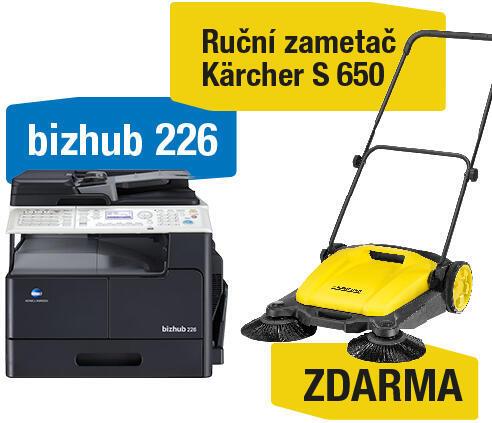 Konica Minolta Bizhub 226 set1 (DF-625+AD-509+MK-749+NC-504) + Kärcher S 650 ruční zametač (A8A50211)