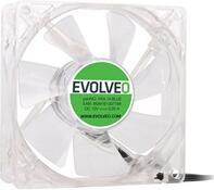EVOLVEO 14L1BL ventilátor 140mm, 4 LED modrý, 3pin (FAN 14 BLUE)
