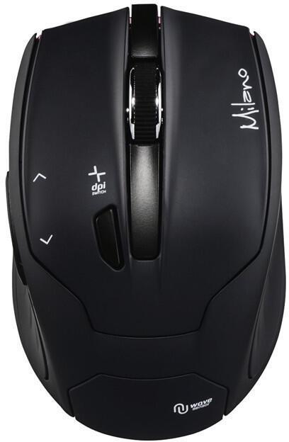 HAMA myš Milano/ bezdrátová/ optická/ 2400 dpi/ 6 tlačítek/ USB/ černá (53942)