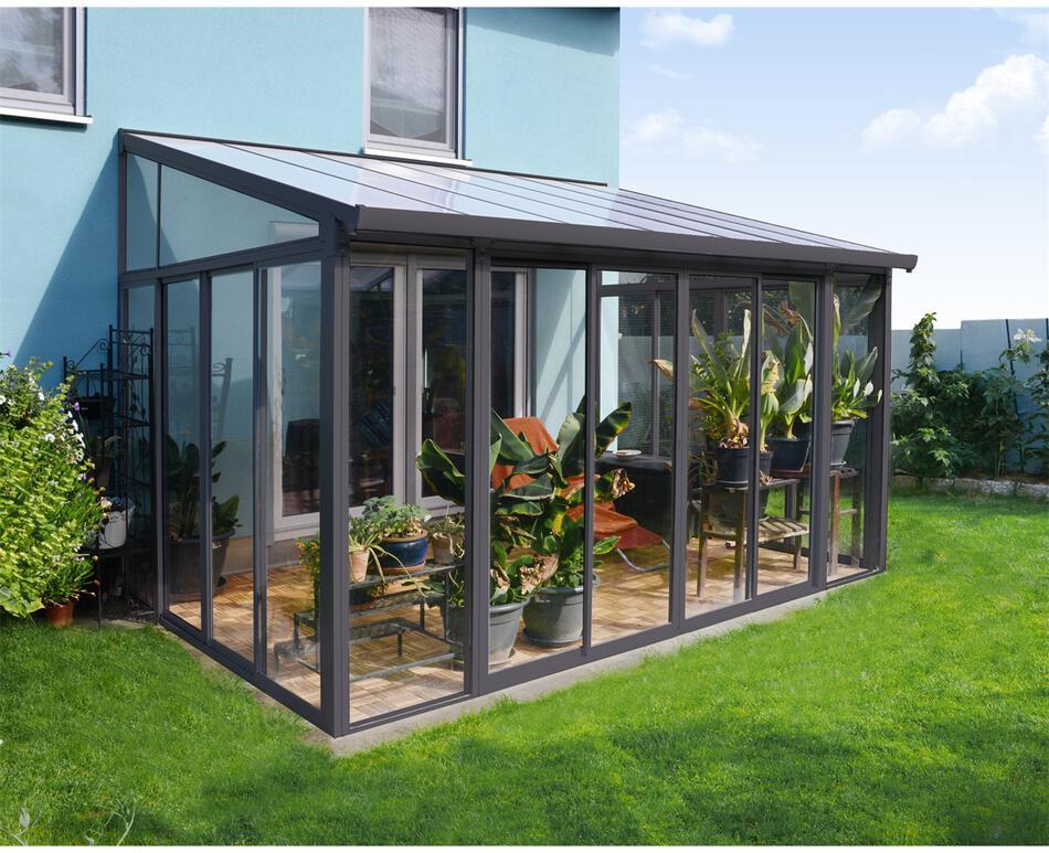 Palram Torino 3 x 4,25 šedá, zimní zahrada