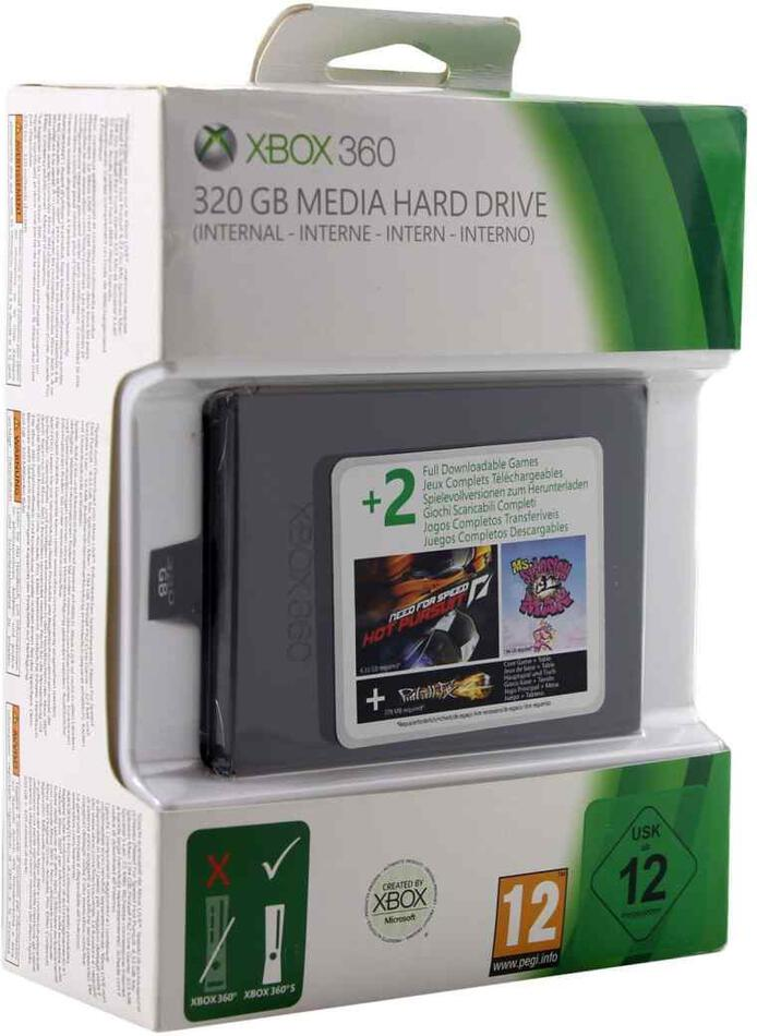 XBOX 360 Hard Drive 320GB SLIM + NFS: Hot Pursuit + Ms.Splosion Man