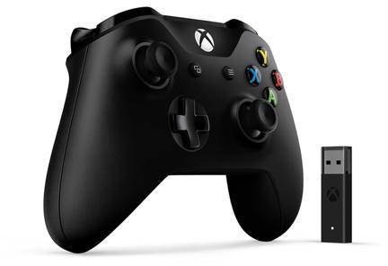 XBOX ONE Wireless Controller Black + adapter pro Windows (4N7-00002)