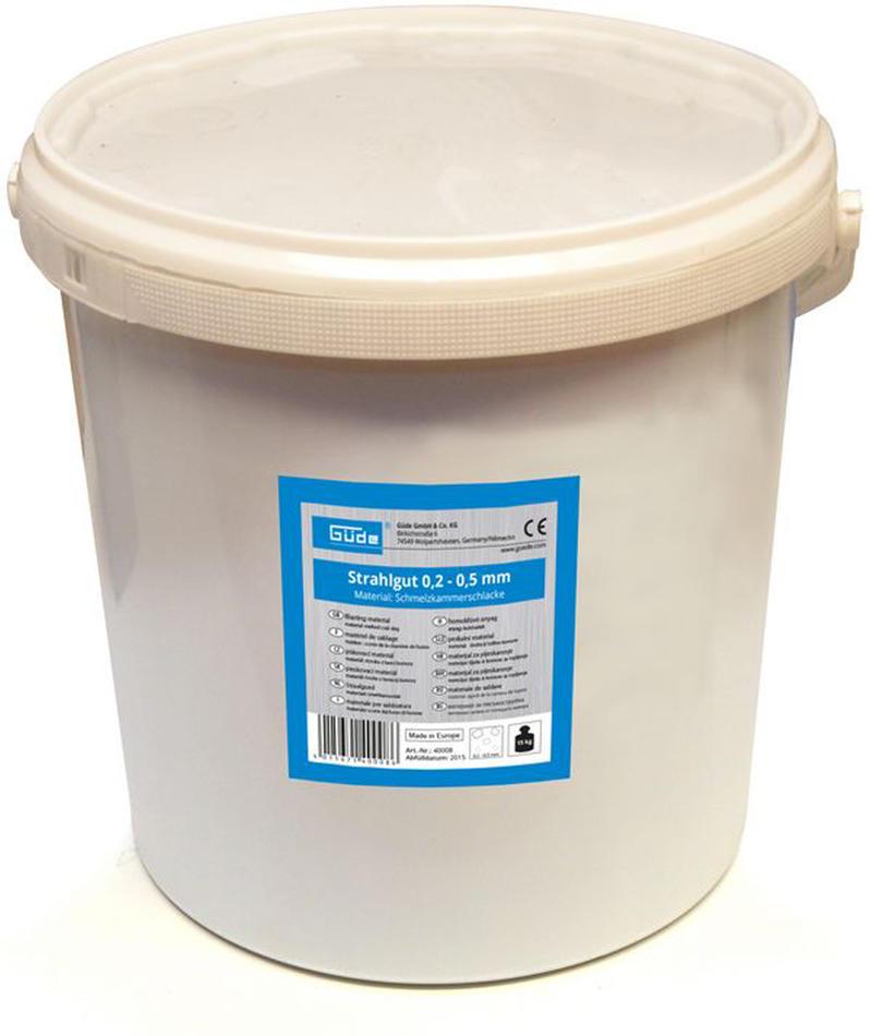 Tryskací materiál 15 kg, 0,2 - 0,5 mm GÜDE
